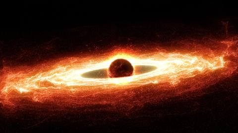 Supermassive Black Hole With Hot Accretion Disk Animation