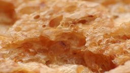 BAKED BREAD TEXTURE EXTREME CLOSE UP STOCK FOOTAGE* Live Action