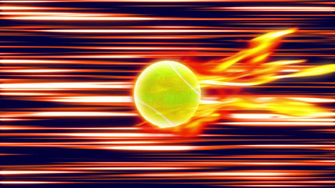 Tennis Ball fire loop shot Videos animados