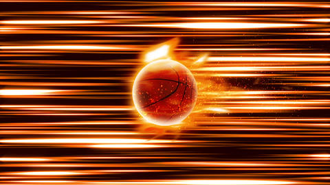 BasketBall fire shoot loop animation Videos animados