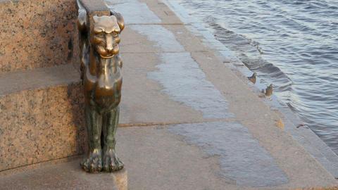 Mythological winged lion GIF