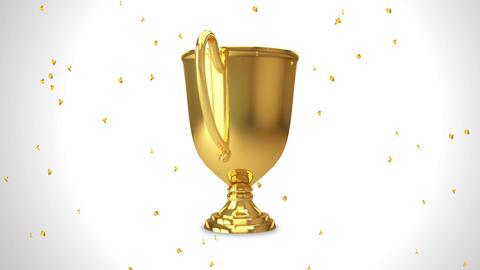 Trophy gold confetti GIF