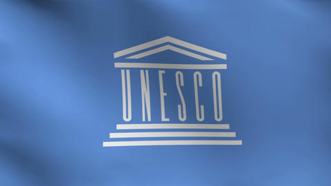 Flag of Unesco CG動画素材