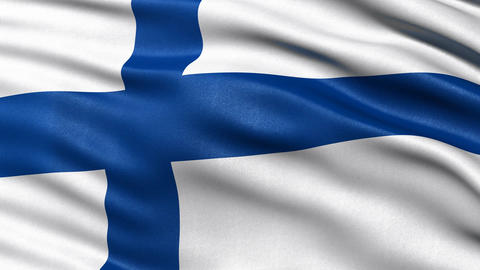 Finland flag seamless loop Animation