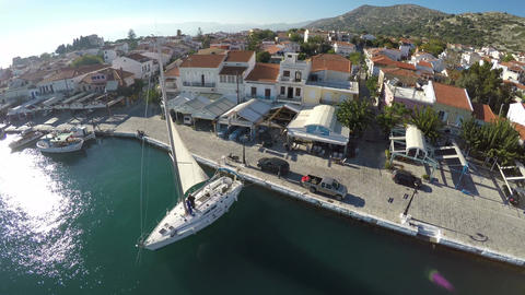 Port of Pythagorio in Samos Island (4) Footage