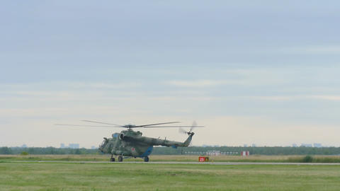 Helicopter Mil-171 taxiing before take-off Footage