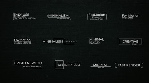 Clean Titles Motion Graphics Template