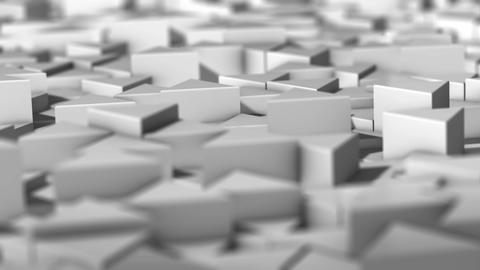 Landscape of Trihedral Pillars White 02-1 Animation
