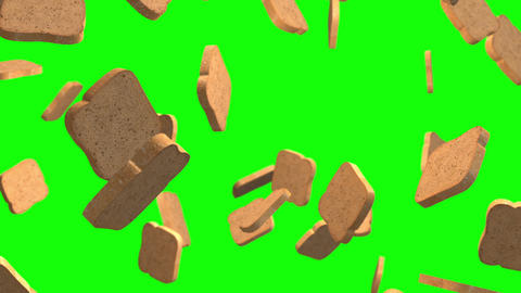 Bread loop green screen animation Animation