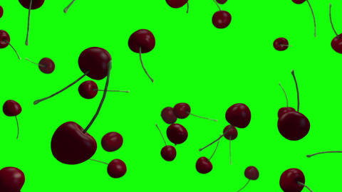 Cherry fruits loop green screen animation Animation