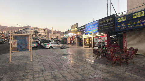 Aqaba, Jordan - Evening streets of the city part 20 Live Action