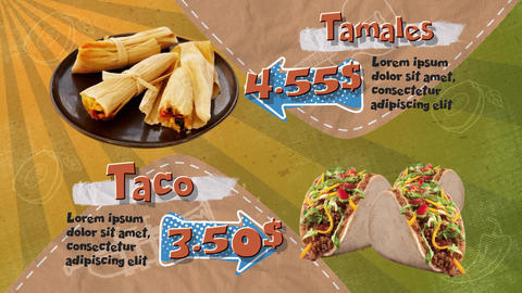 Mexican Restaurant Menu After Effectsテンプレート