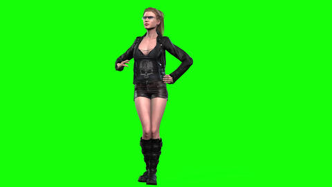464 4K 3d animated fashion girl talking and dancing Animation
