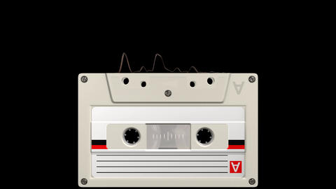 Cassette audio react 4 different bps with alpha white Animation