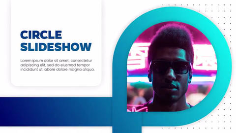 Circle and Line Slideshow After Effects Template