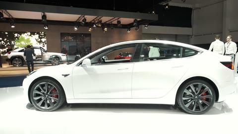 Tesla Model 3 electric car Live Action