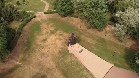 Babi Yar. Aerial - The place of mass murder of Jews during the Second World War Live Action