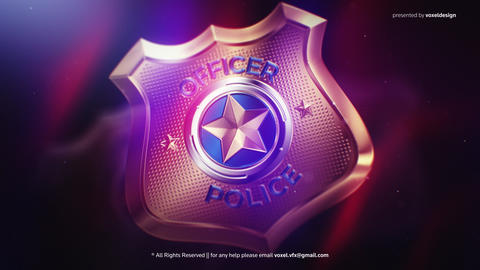 Police Badge Opener After Effects Template