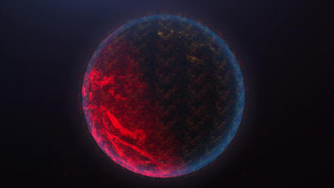 3D Rendering globe spinning and orbit in the universe with lighting effect and dark grain processed GIF