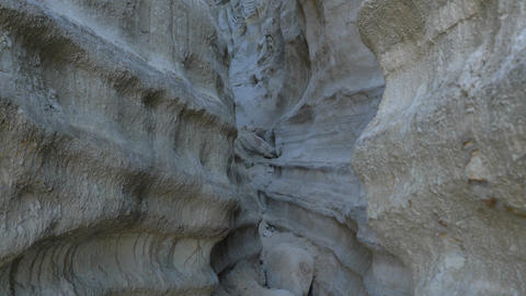 Walking thru canyon Scenic Landscape Marine bluffs on the beach, San Clemente Live Action