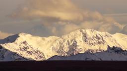Clouds Roll Over High Peaks Alaska Mountain Range Footage