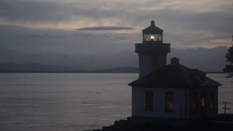 Lime Kiln Lighthouse Haro Strait Maritime Nautical Beacon Footage