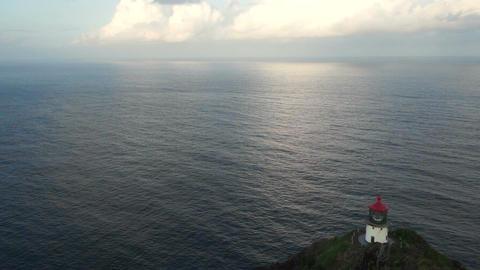 Makapuu Lighthouse Pacific Ocean Hawaii Island Oahu United States Footage