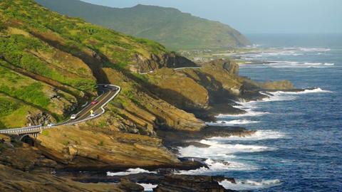 Oahu Hawaii South Shore Pacific Coast Footage