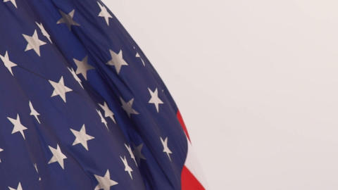 Wind Waving Bright Patriotic American Flag Stars and Stripes Footage