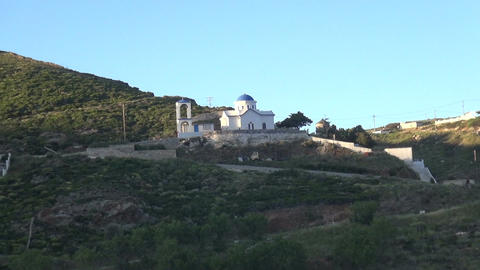 Church on a Greek Island Footage