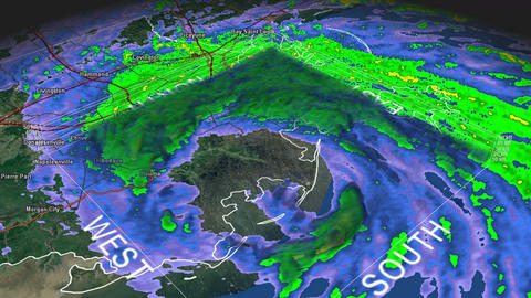 Hurricane Isaac Eye 3D Radar Footage