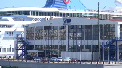 Piraeus Port Authority Building Footage