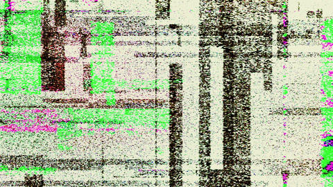 Colored Noise Glitch Video Distortion Damage Background Animation