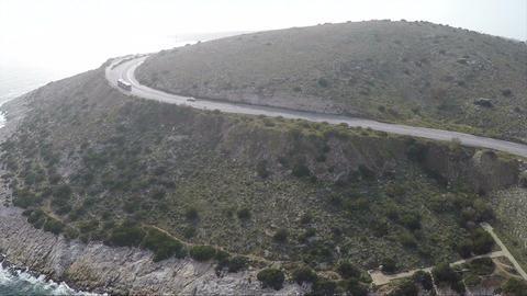 Bus on a Coastal Road Footage