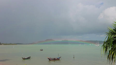 Rainbow in the sea Footage