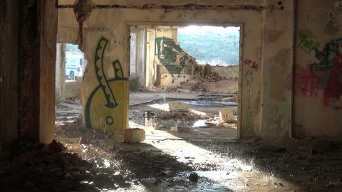 Abandoned Building after the Rain (1) Footage