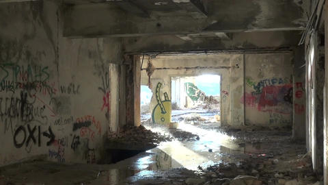Abandoned Building after the Rain (3) Footage