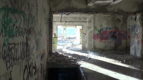 Abandoned Building after the Rain (4) Footage