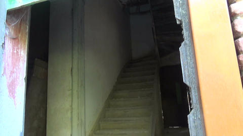 Wooden Ladder in a Ruined House 1 Footage