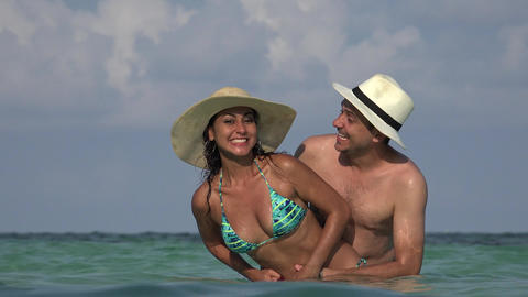 People Having Fun On Vacation Married Or Dating Stock Video Footage