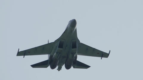 Russian falcons aerobatic team, Sukhoi-35 air-defence fighter Live Action