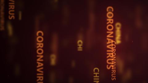 Coronavirus 2019-nCov novel coronavirus concept motion background. coronavirus Live Action