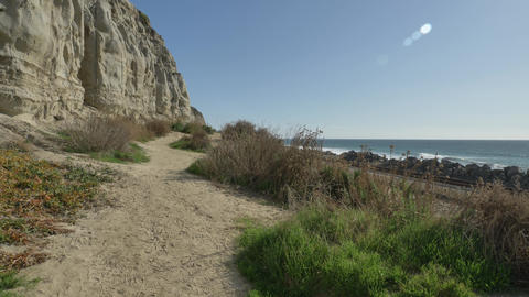 Scenic Landscape Marine bluffs on the beach, San Clemente California calafie Live Action
