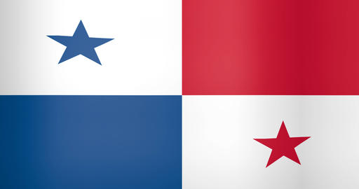 Waving Flag of Panama Looping Background Live Action