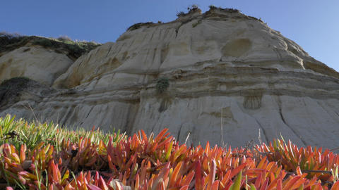 Low angle Scenic Landscape Marine bluffs cliff on the beach, San Clemente Live Action