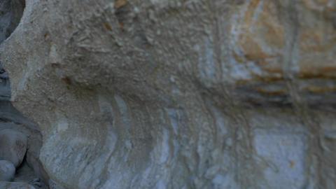 Walking thru canyon Scenic Landscape Marine bluffs cliffs at sand canyon , San Live Action