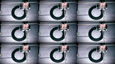 Automatic three dimensional 3d printer performs plastic ライブ動画