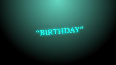 Birthday random light text background Live Action