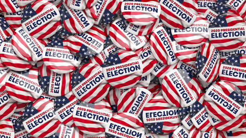 2020 Presidential Election 3D Animation POTUS Campaign Buttons Dolly Shot Animation