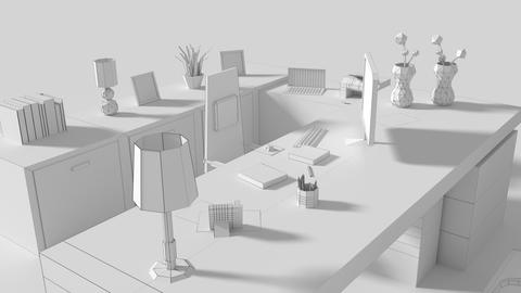 Low Poly Managers Room
